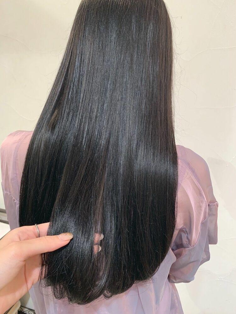 ブルーブラック★暗髪でも透明感カラー