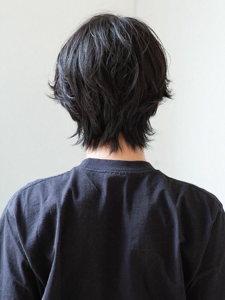 センターパート×くせ毛風パーマ(HONEY表参道  SHIHO)