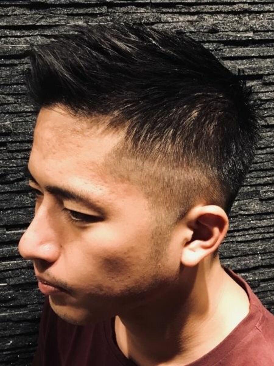 漢ショートヘアスタイル