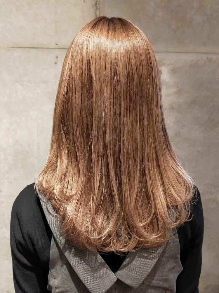 20代30代40代大人可愛いモテ髪★シナモンベージュ