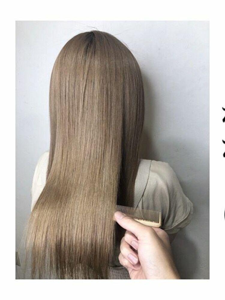 髪質改善☆ミルクティーベージュカラー