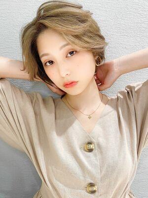 アフロート 谷 20代 30代 韓国風ボリューム小顔似合わせショート