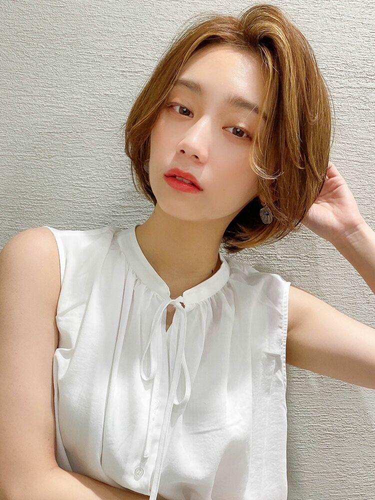 アフロート谷 20代30代40代 韓国風 顔周り小顔 フォギーベージュ