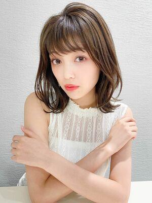 銀座アフロート 谷 20代 30代 透明感カラー小顔大人可愛いヘア