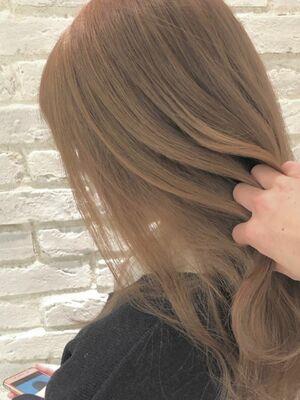 ブリーチonカラーで思い通りの髪色に!