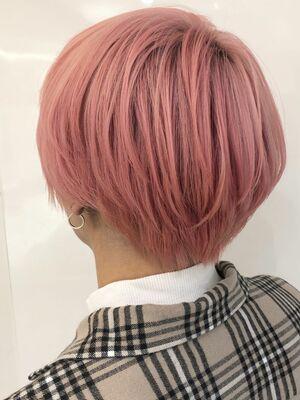 ブリーチonカラーで作るピンク系カラー☆