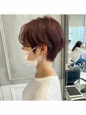 ラベンダーグレージュ ☆ 小顔シルエットショート