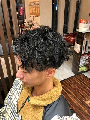 smilehair大泉学園店 副店長 臼井涼真無造作パーマ×マッシュ