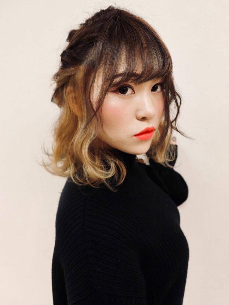Lia&汐見悠佑  インナーカラー&簡単アレンジ