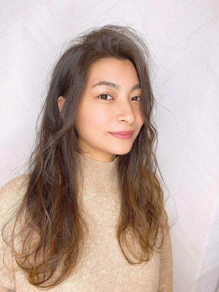 津賀涼 シークレットハイライトで大人美人ハイライト 透明感ベージュ