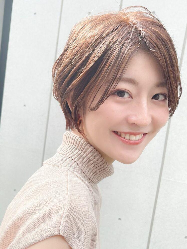 横顔可愛いショート/前髪長め