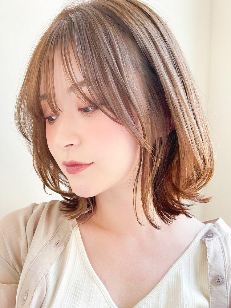くびれミディ/ハイライトカラー/表参道