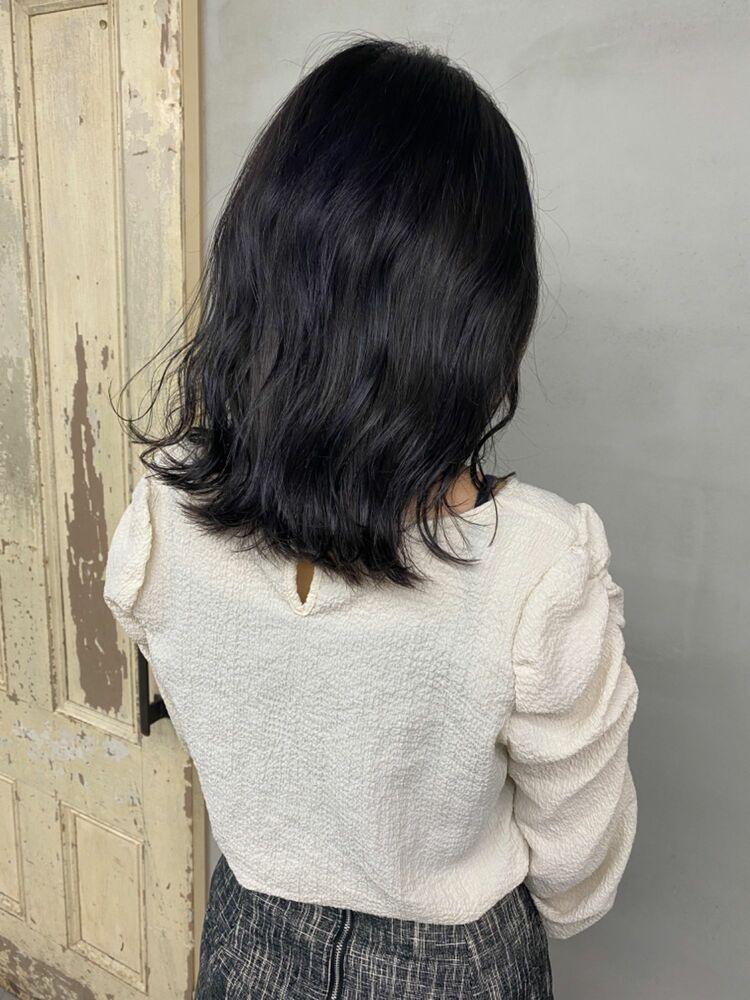 ミディアム×暗髪グレージュ🌟