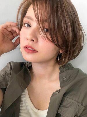 unami kichijoji ヘルシーレイヤーボブ×透明感カラー 澤田 杏奈