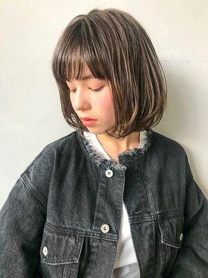 unami kichijoji ボブ×透け感カラー 澤田 杏奈
