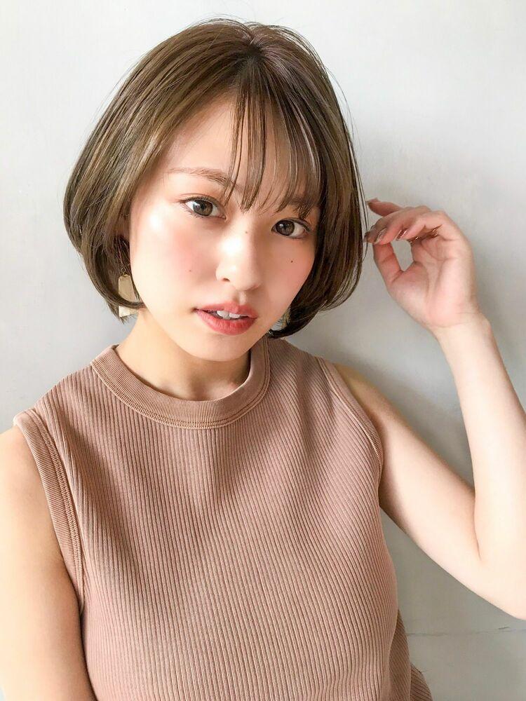 アンアミ 吉祥寺 ショートボブ×オトナシースルバング 澤田 杏奈