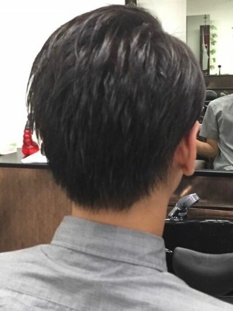 七三オールバック<ヒロ銀座/メンズ/理容室/浜松町>