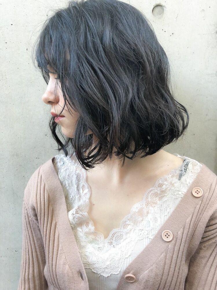 黒髪 柔らかいボブ 20代30代40代 秋冬におすすめヘア