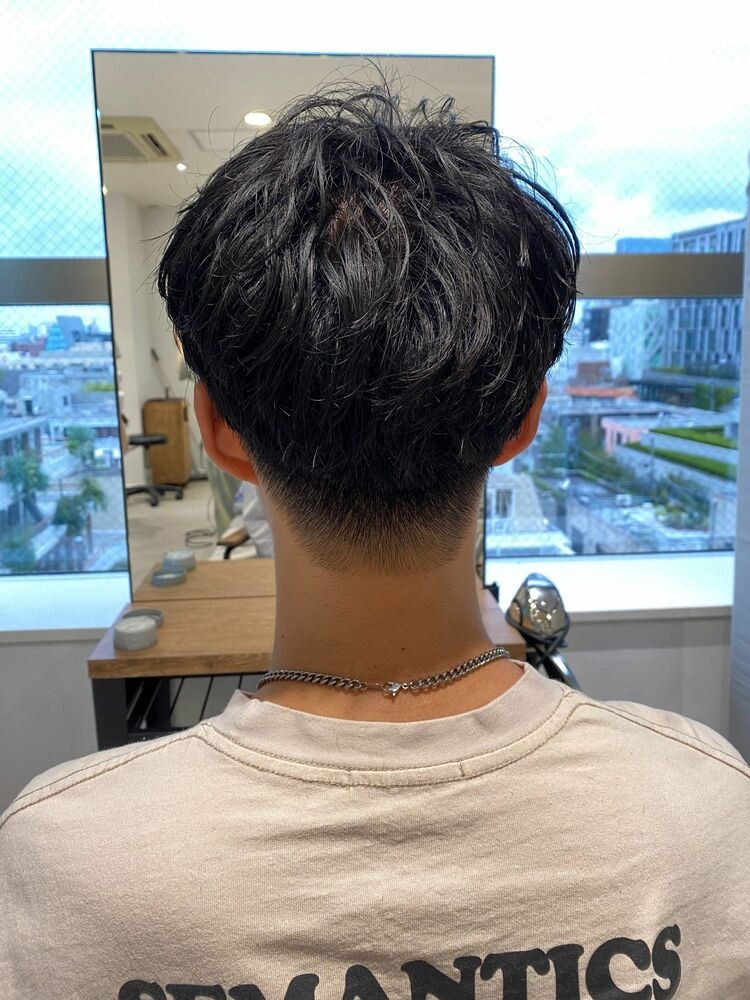 小久保style☆刈り上げ黒髪スマートマッシュ
