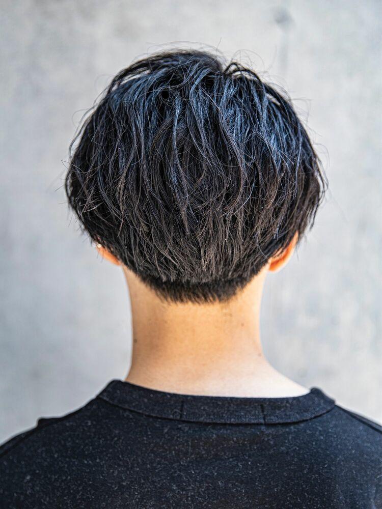 【MEN'S HAIR】ニュアンスマッシュシルバーカラー