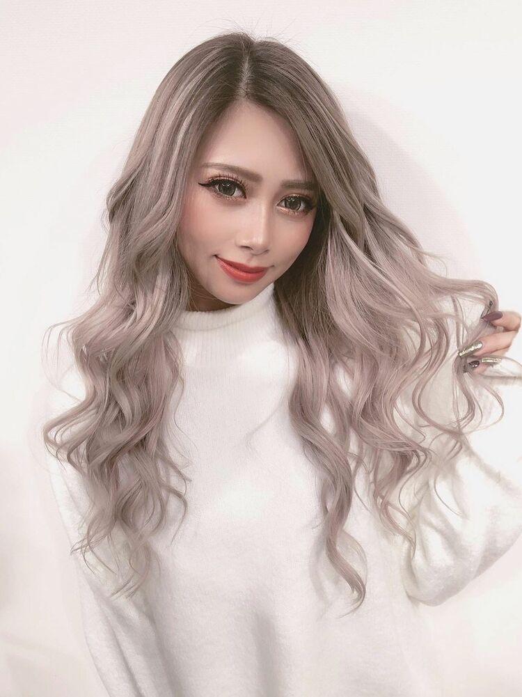 最高級シールエクステ×ホワイトアッシュグラデーション☆