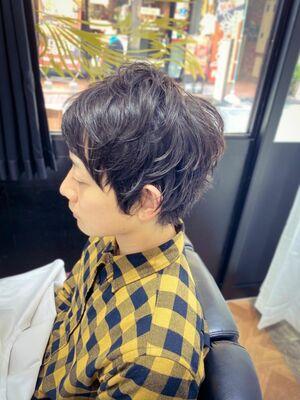 THE FADE 軟毛の人のミディアムスタイル