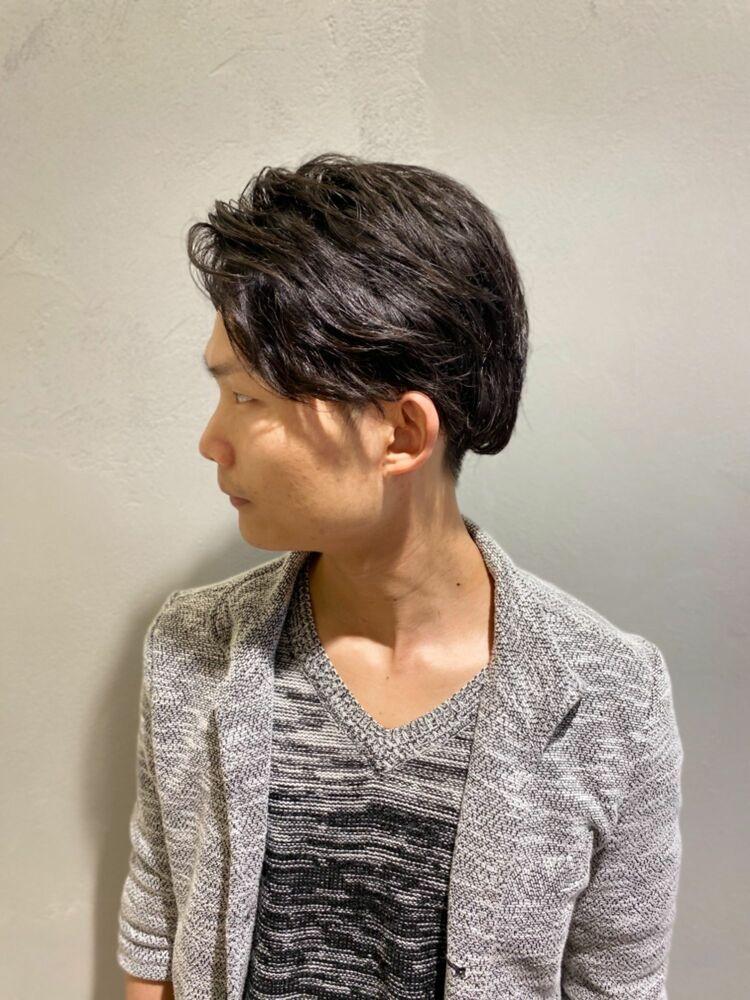 軟毛の髪質にニュアンスパーマで簡単セットスタイル!