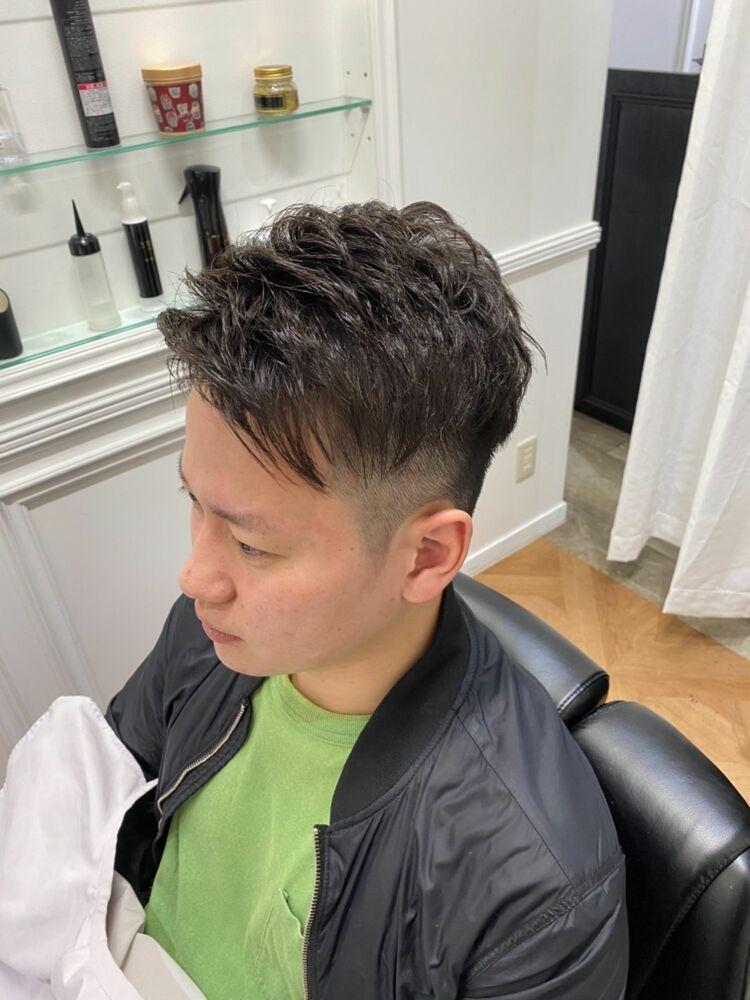 大門 浜松町 THE FADE 髪質改善アイロンパーマスタイル