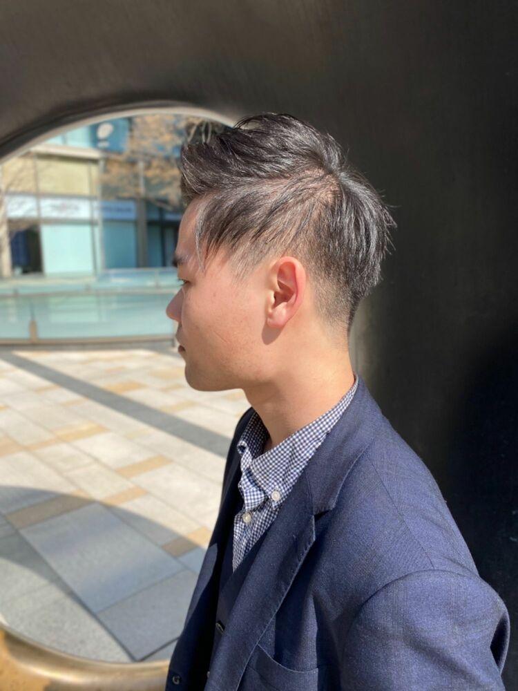 軟毛髪質のビジネスツーブロック