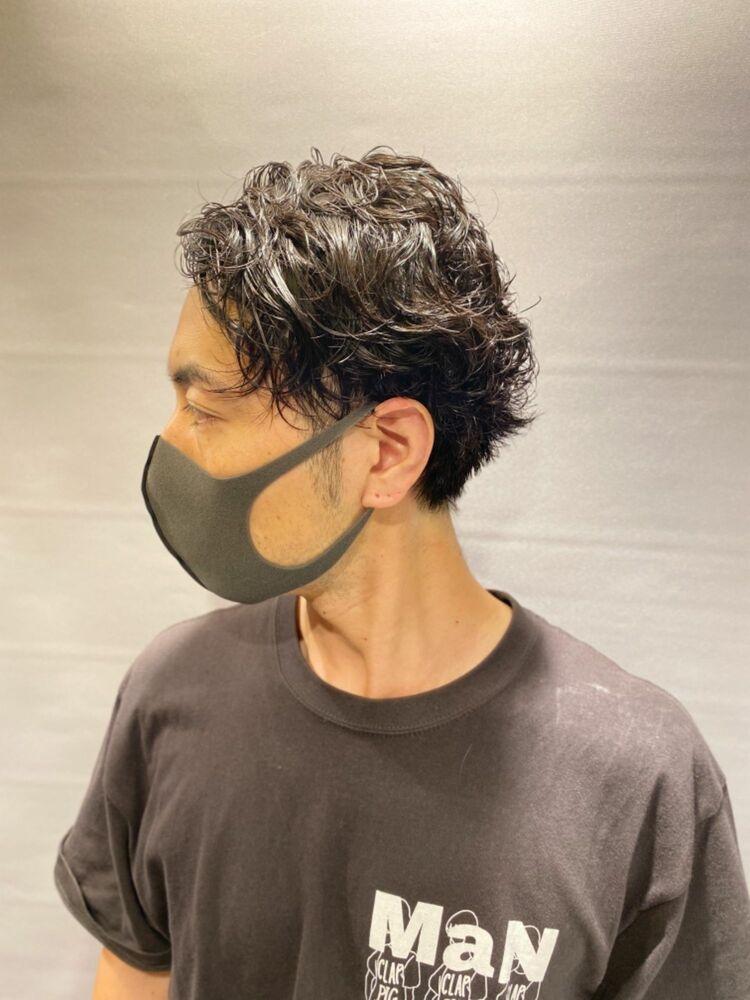 マスクでも似合うパーマスタイル