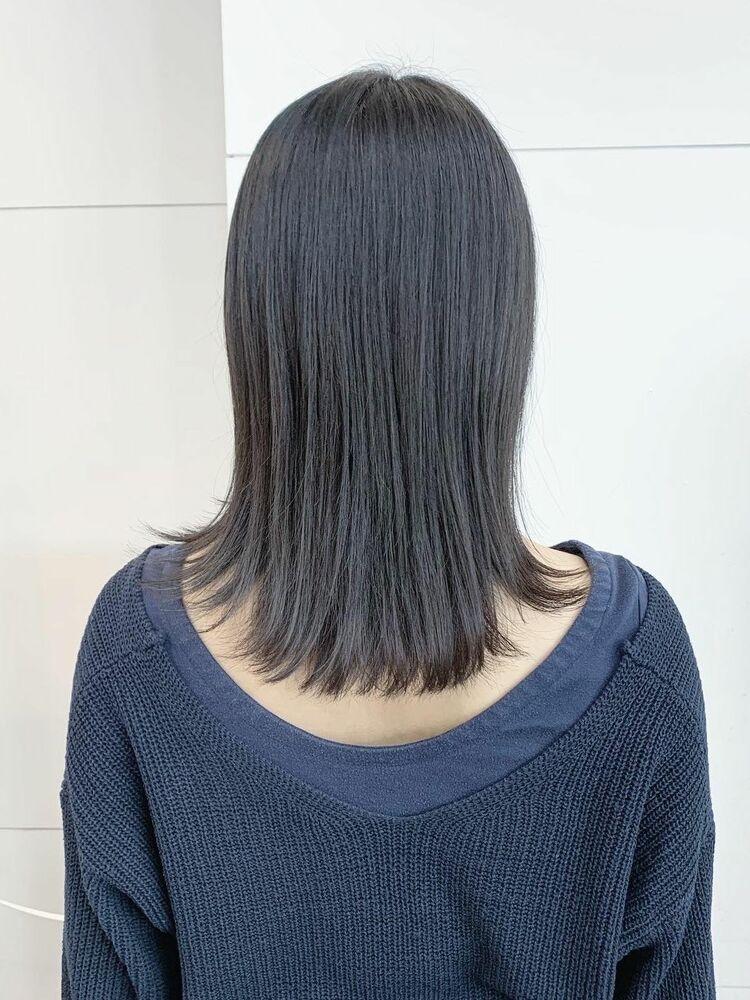 外ハネミディアムヘア髪質改善トリートメント+外ハネカット