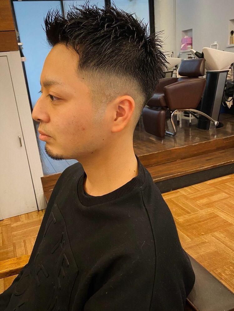 (IRIE HAIR 福岡) フェードカット×バーバースタイル