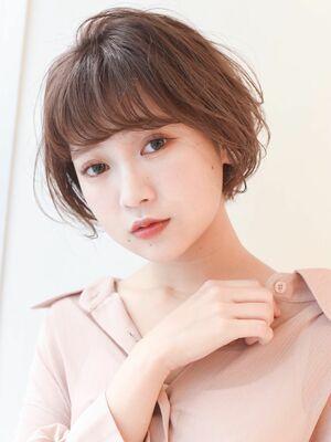 LIPPS銀座安田愛佳_ピンクブラウン大人可愛いショートボブ