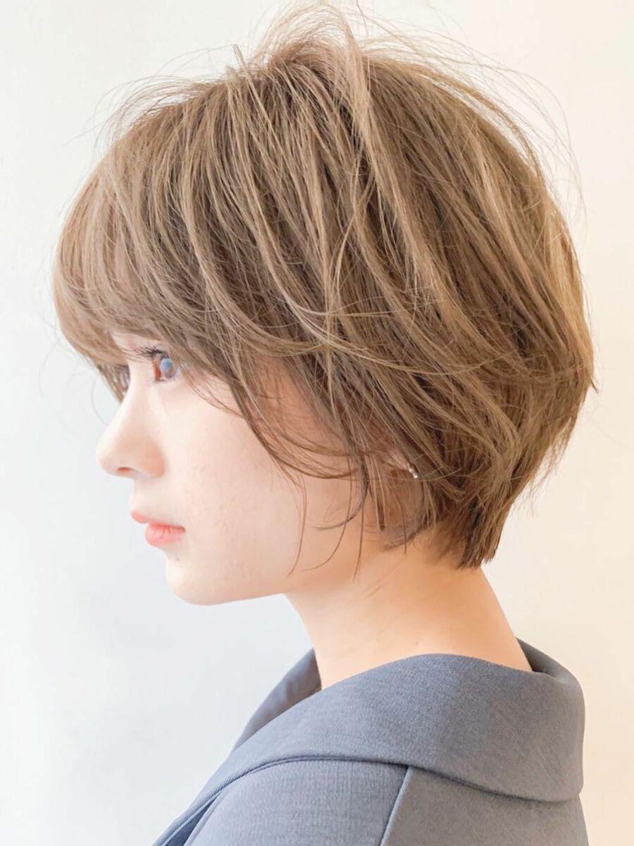 LIPPS銀座安田愛佳_ニュアンスパーマの丸みショートボブ