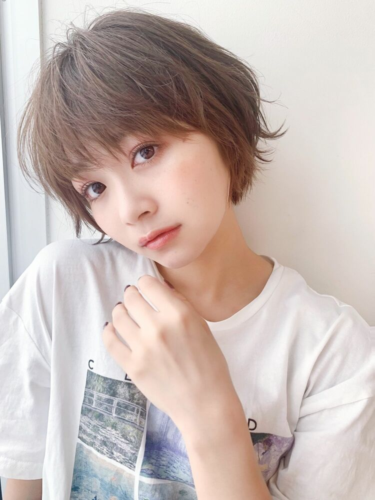 LIPPS銀座安田愛佳_外はねショートボブ透明感ブラウン