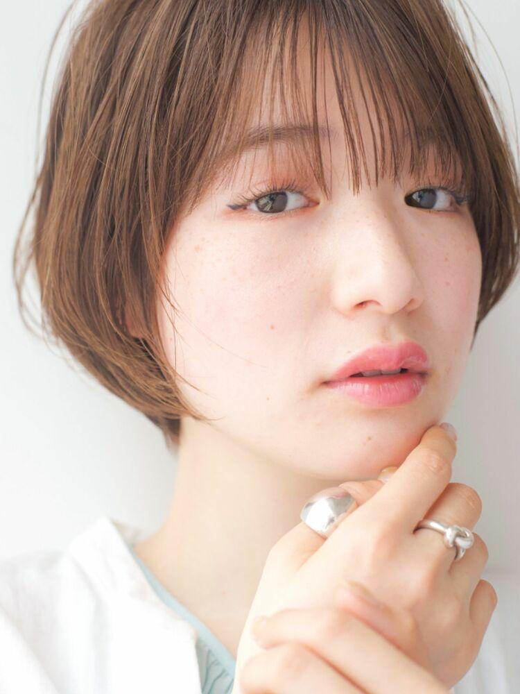 LIPPS銀座安田愛佳_シースルーバングひし形ショートボブ