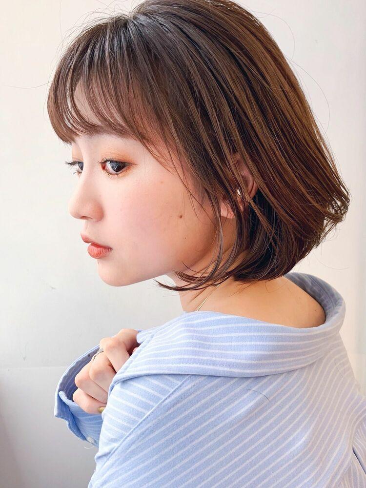 LIPPS銀座安田愛佳_丸みの内巻きボブ