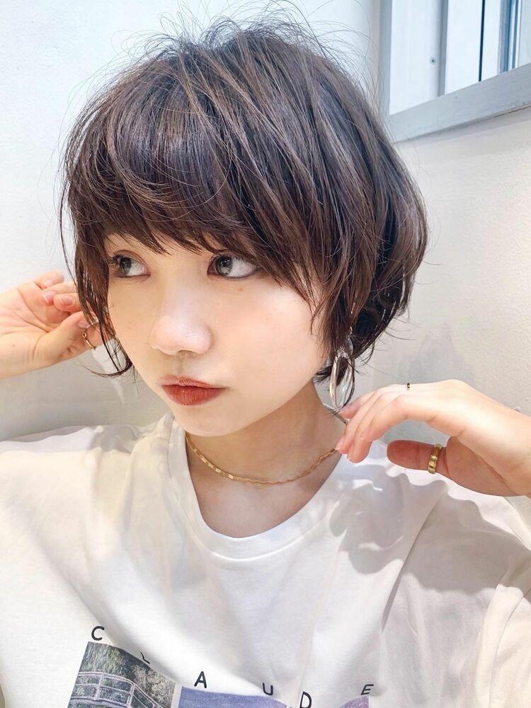 LIPPS銀座安田愛佳_外ハネ可愛い丸みマッシュショート
