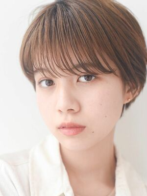LIPPS銀座安田愛佳_丸みマッシュショートシースルーバング
