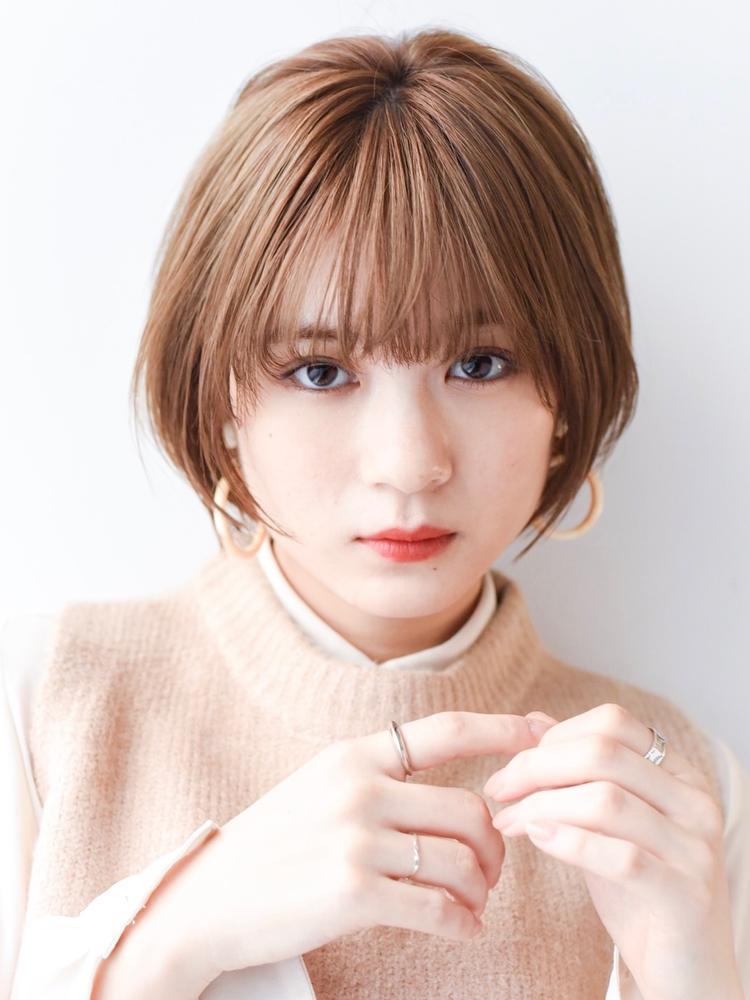 LIPPS銀座安田愛佳_フレンチベージュナチュラル大人かわいいシンプルショートボブ
