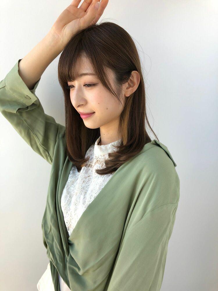 MINX銀座二丁目店 徳永利彦『小顔に見える前髪、王道内巻きミディアムヘア』