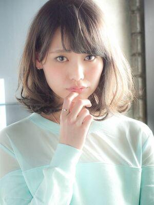 MINX銀座二丁目店 徳永利彦『小顔に見える前髪、ひし形のシルエットのモテヘア』