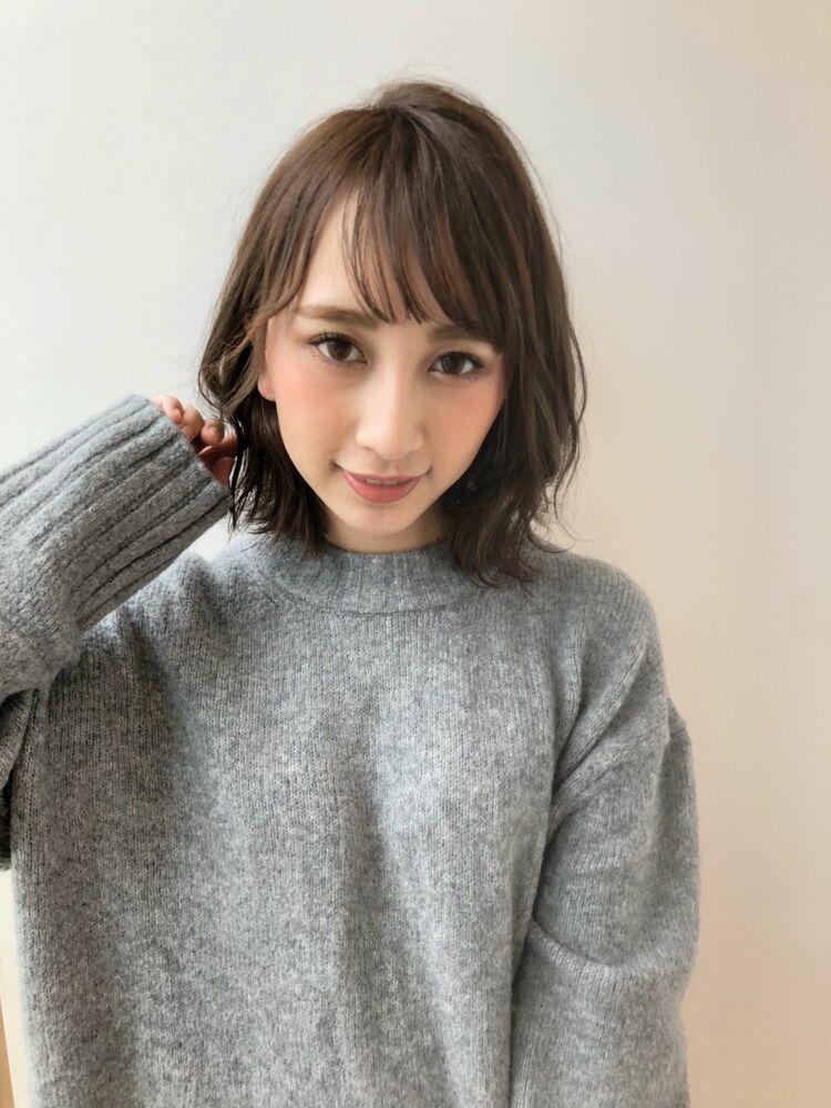 MINX銀座二丁目店 徳永利彦『小顔に魅せる前髪、ひし形のシルエットのミディアムレイヤー』