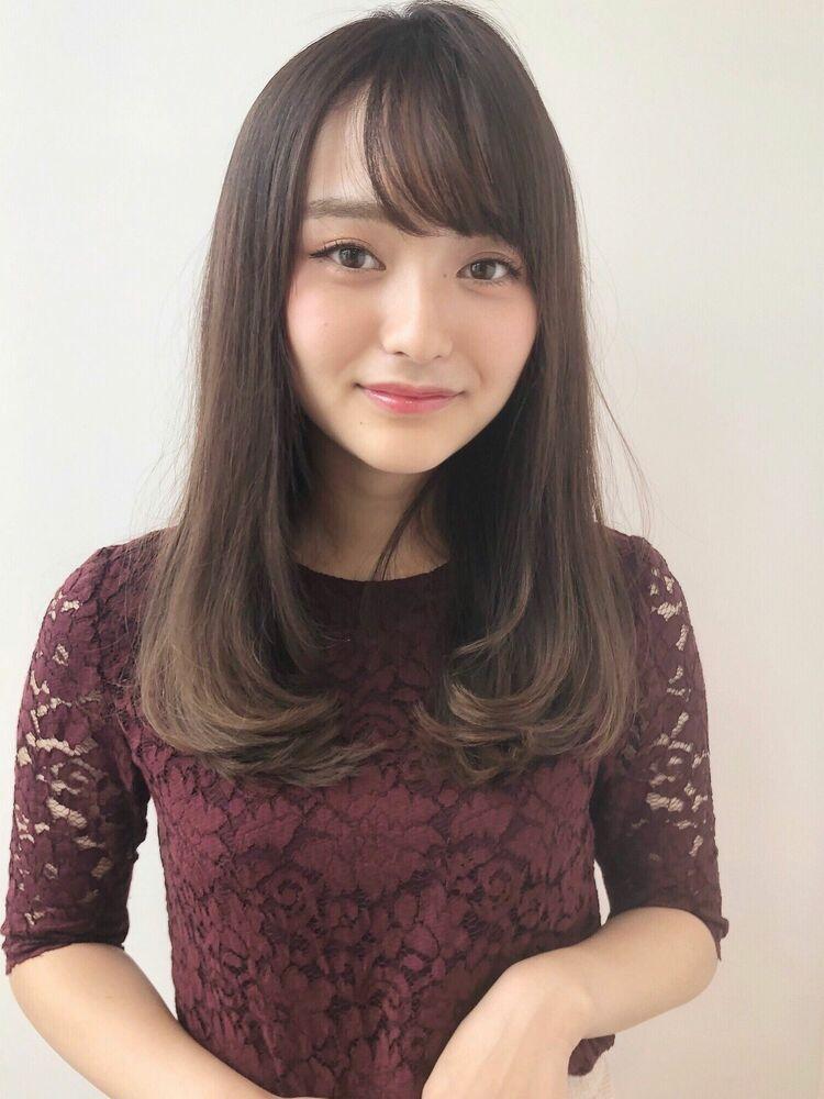 MINX銀座二丁目店/小顔に見せる前髪☆大人可愛い内巻きストレートヘア