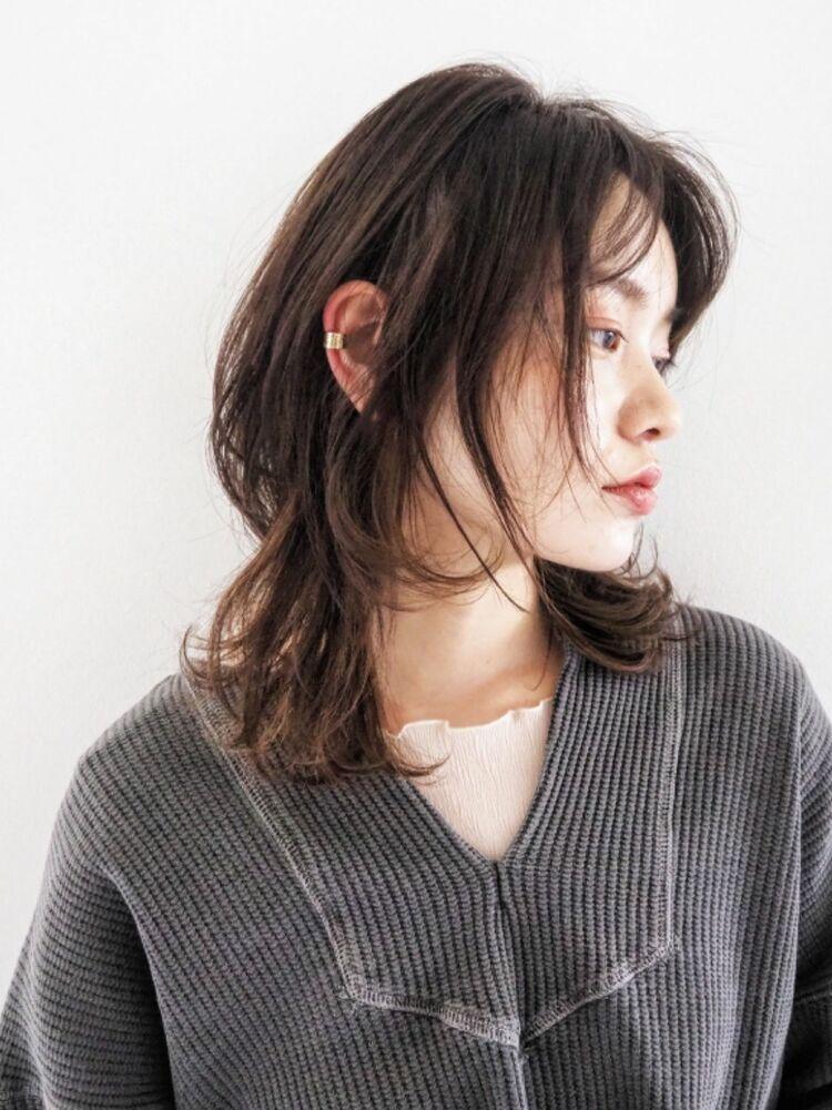 音楽を感じる髪型。