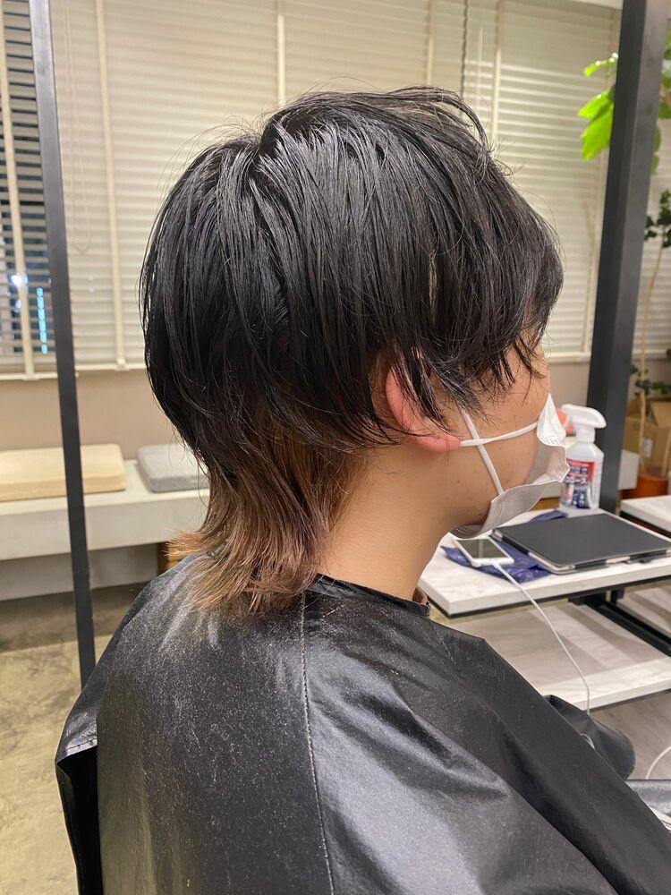 縮毛矯正×裾カラー