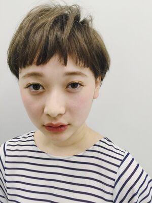 マニッシュベリーショート×モノトーンマット 渋谷智宏