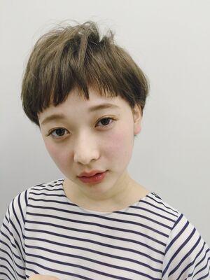 マニッシュベリーショート×モノトーンオリーブ 渋谷智宏