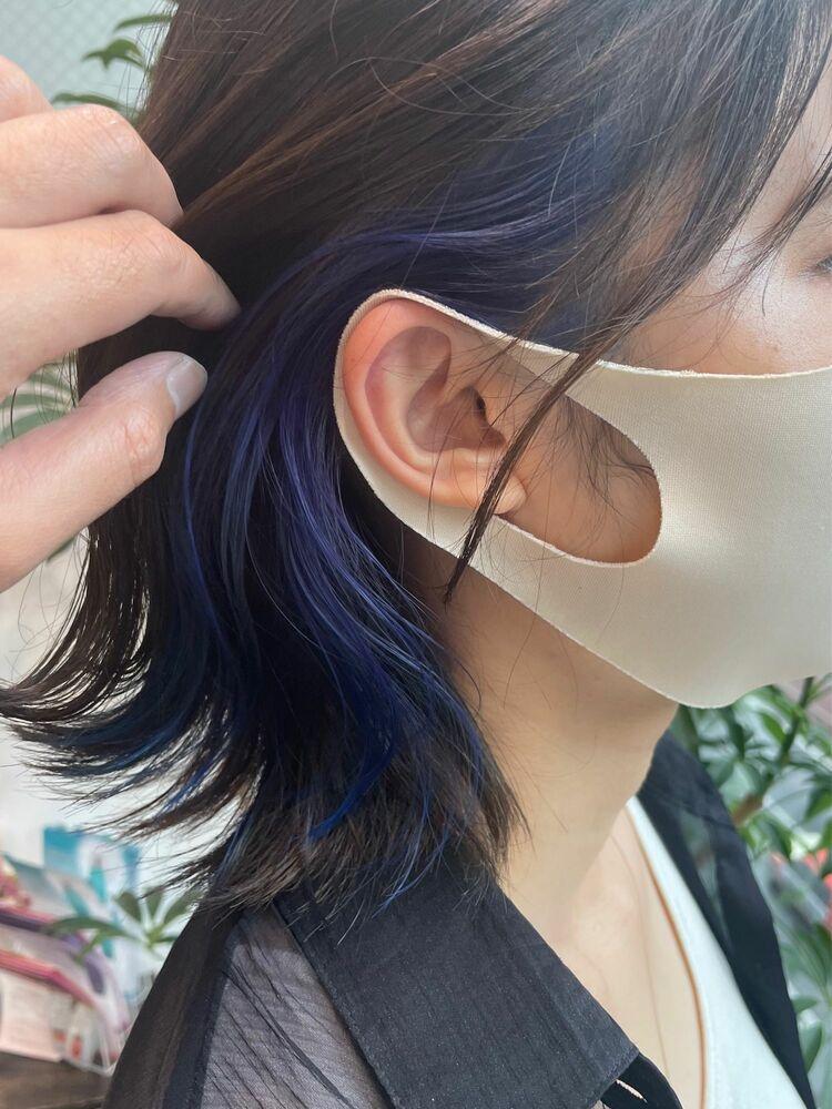 【GoofyTokyo銀座/渋谷トモヒロ】大人イヤリングカラーブルー