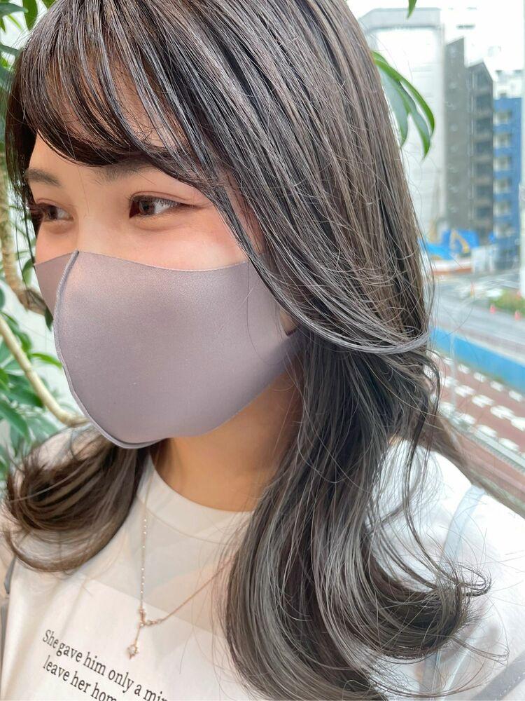【GoofyTokyo銀座/渋谷トモヒロ】インナーカラー/イヤリングカラー/グレー